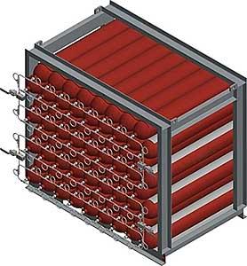 Air Storage Cylinder Lift Rack 3400 Liter Volume