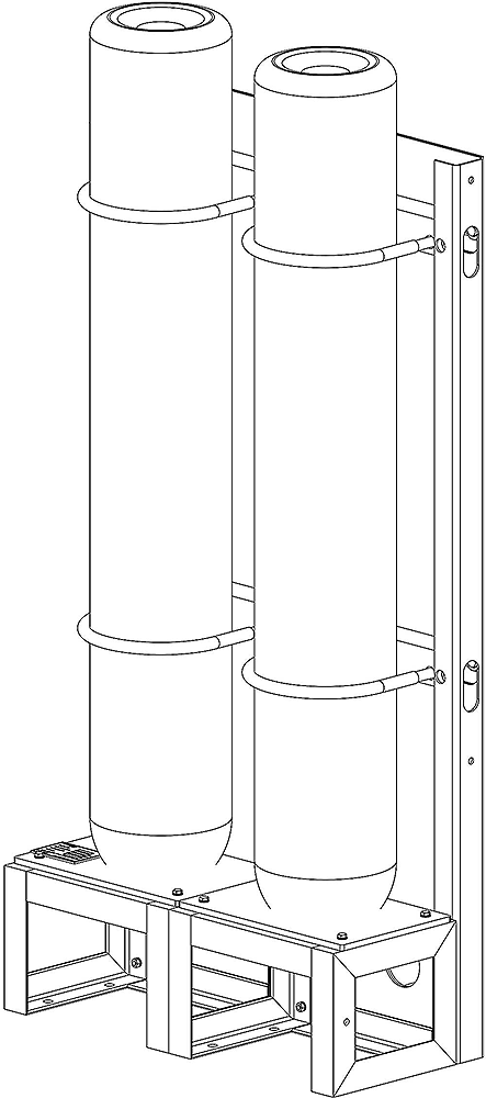 High Pressure Bottle Rack : Seacomair high pressure air storage cylinders