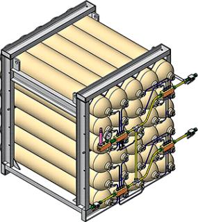 ASCLR2400 Air Storage Cylinder Rack